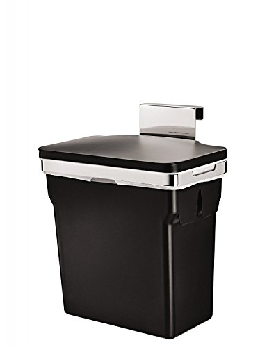 simplehuman 10 Liter / 2.6 Gallon In-Cabinet Kitchen Trash Can, Heavy-Duty Steel Frame