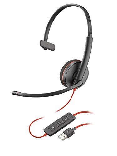 Plantronics Blackwire 3210 USB-A Headset, On-Ear Mono Headset, Wired