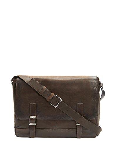 FRYE Men's Oliver Messenger Bag, Dark Brown, One Size