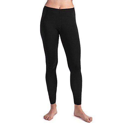 MERIWOOL Women's Merino Wool Midweight Baselayer Bottom - Black/M