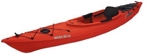 Sun Dolphin RED Aruba 12' SS Sit-in Lightweight Fishing Kayak w/ Rod Holders