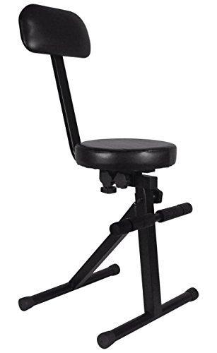Rockville RDS40 Portable DJ/Guitar/Drum/Keyboard Padded Throne/Chair Adjustable
