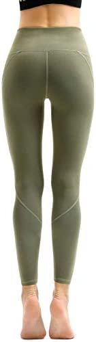 AFITNE Women's High Waist Yoga Pants with Pockets, Tummy Control Workout Running 4 Way Stretch Yoga Leggings 4