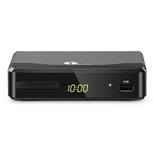 1 BY ONE ATSC Digital Converter Box for Analog TV, Analog TV Converter Box with Record and Pause Live TV, USB Multimedia Playback, HDTV Set Top Box for 1080p(New Version)-Black