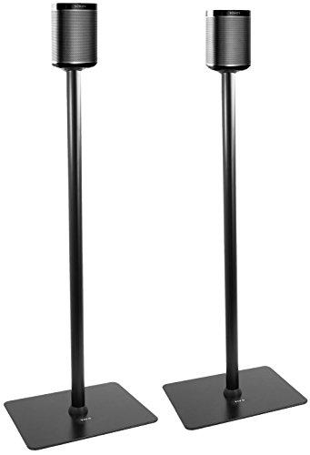 VIVO Black 39' Speaker Floor Stands (Pair) Designed for SONOS Play 1 and Play 3 Audio Speaker Mounts (STAND-SP03C)