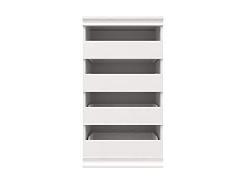 ClosetMaid 4561 Modular Closet Storage Stackable Unit with 4-Drawers White