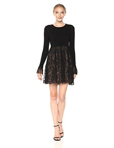 Mixed media dress Long sleeve Pullover style