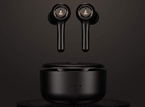 Airdopes 511V2 True Wireless Ear-Buds with Bluetooth V5.0, Immersive Audio, Up to 17.5H Total Playtime, IPX5 Water & Sweat Resistance, Ergonomic Design and Instant Voice Assistant