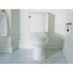 KOHLER K-3837-0 Devonshire Comfort Height Two-Piece Elongated 1.28 gpf Toilet, White