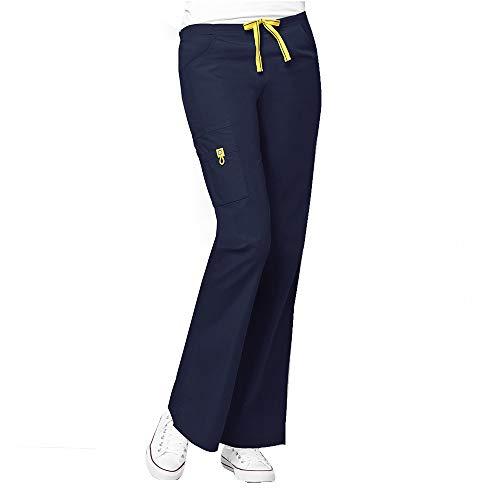 WonderWink Origins Women's 6016 Bravo Top & Romeo Pant 5026 Medical Uniform Scrub Set (Navy – Medium – Medium Petite) deal 50% off 31NT1 rGpZL