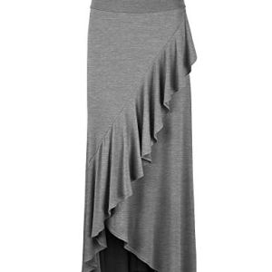 LL Womens Wrapped High Low Ruffle Maxi Skirt - Made in USA 11 Fashion Online Shop Gifts for her Gifts for him womens full figure