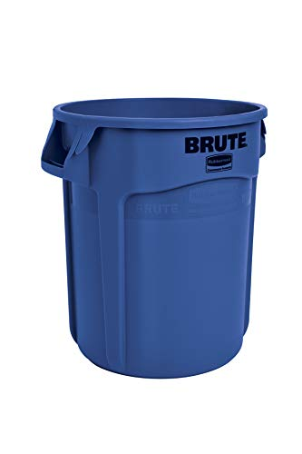 Rubbermaid Commercial Products FG262000BLUE BRUTE Heavy-Duty Round Trash/Garbage Can, 20-Gallon, Blue