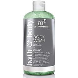 ArtNaturals Essential Bath and Body Wash - Tea Tree, Peppermint & Eucalyptus Oil - Natural Eczema Soap for Antifungal Feet - Helps Kill Nail Fungus, Athletes Foot, Ringworm, Jock Itch & Odors - 12oz