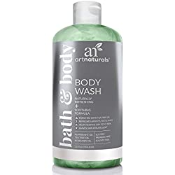 ArtNaturals Essential Bath and Body Wash - Tea Tree, Peppermint & Eucalyptus Oil - Natural Eczema Soap for Antifungal Feet - Helps Kill Nail Fungus, Athletes Foot, Ringworm, Jock Itch & Odors - 12oz
