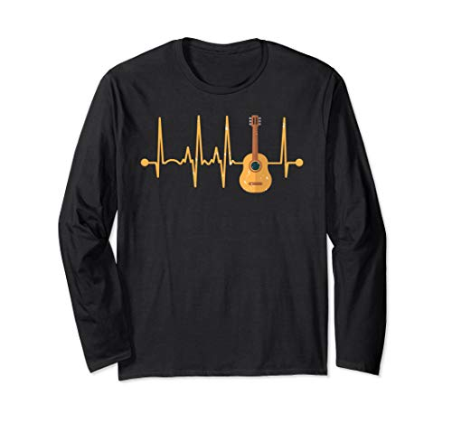 Acoustic Guitar Heartbeat - Guitars Acoustic Musician Long Sleeve T-Shirt
