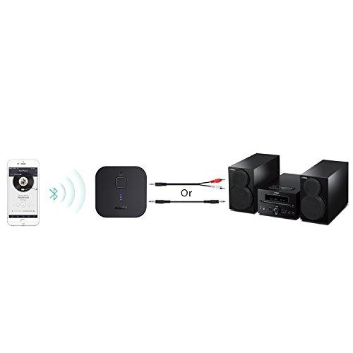 AUKEY Ricevitore Bluetooth 4.1, Adattatore Audio Portatile con Microfono Incorporato per Chiamate in Vivavoce, Musica Stereo da Altoparlanti Auto con 3,5 mm Jack per Smartphone e Altri Dispositivi