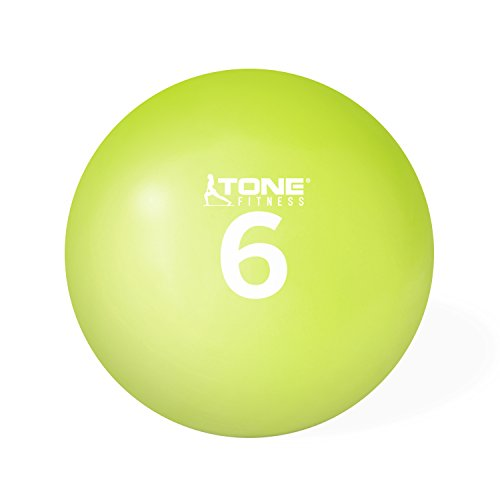 Tone Fitness HHKC-TN006 Soft Weighted Toning Ball, 6 lb