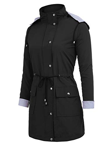 FISOUL Raincoats Waterproof Lightweight Rain Jacket Active Outdoor Hooded Women's Trench Coats 4 Fashion Online Shop gifts for her gifts for him womens full figure
