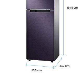 Samsung 253 L 2 Star ( 2019 ) Frost Free Double Door Refrigerator(RT28N3722UT/HL, Pebble Blue, Convertible, Inverter Compressor)