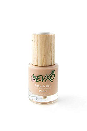 EVXO Organic Liquid Mineral Foundation - Vegan, All Natural, Gluten Free, Aloe Based, Buildable Coverage, Cruelty Free Foundation Makeup - 1 Fl Oz (Pearl/Light with Cool Undertones)