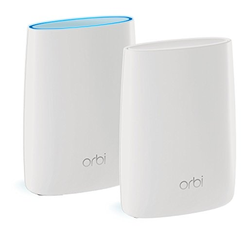 NETGEAR Orbi Whole Home Mesh WiFi System with Tri-band – Wireless router replacement, Eliminate WiFi dead zones, Up to 5000 sqft, 2pk (RBK50)