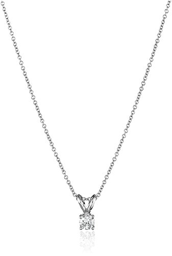 18-inch necklace featuring sparkling round-cut diamond pendant in four-prong setting All our diamond suppliers confirm that they comply with the Kimberley Process to ensure that their diamonds are conflict free. Made in USA