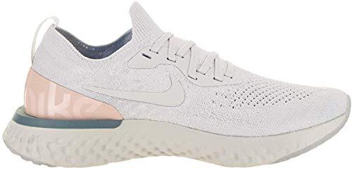 Nike Men's Epic React Flyknit Running Shoes, Grey/Blue, Size 10.0