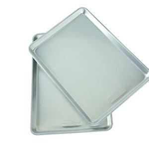 Nordic Ware Natural Aluminum Commercial Baker's Half Sheet (2 Pack), Silver 31Q7LGbbxkL