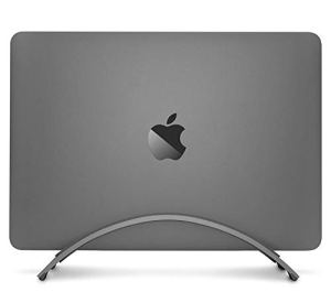Twelve South Bookarc for MacBook | Space-Saving Vertical Desktop Stand for Apple Notebooks (Space Grey)