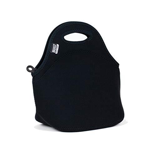 BUILT LB31-BLK Gourmet Getaway Soft Neoprene Lunch Tote Bag - Lightweight, Insulated and Reusable Black