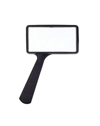Jumbo Rectangular Handheld Magnifying Glass (3X Magnification) – Scratch Resistant GLASS Lens - Large Horizontal Viewing Area