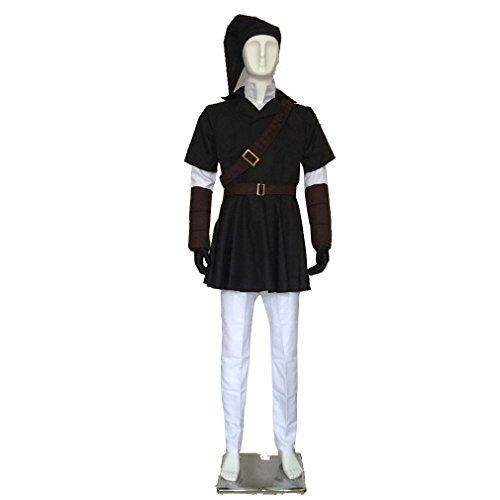Cuterole The Legend of Zelda Link Black Cosplay Costume Halloween Uniform Custom