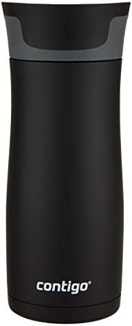 31RNupPCNoL. AC  - Contigo Jackson–Botella de agua reutilizable, 2 unidades, Matte Black & Stainless Steel, 473,18ml, 1 #Amazon
