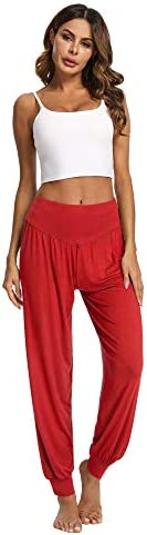 PACBREEZE Women's Harem Yoga Lounge Pants Soft Loose Dance Pilates Workout Pants 6