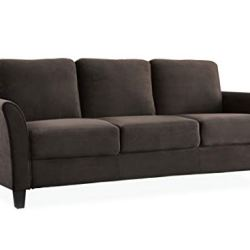 Lifestyle Solutions Austin Curved-Arm Sofa, Coffee