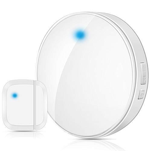 Wsdcam Door Open Chime Sensor Wireless for Business Home Store Shop - 600FT 52 Melodies Door Chime up to 110dB Loud Door Entry Alarm Doorbell Chime (door chime)