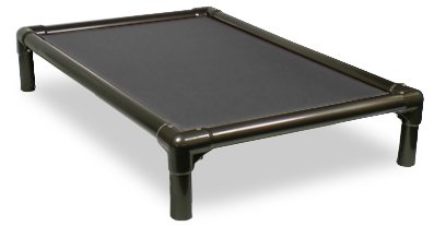 Kuranda Walnut PVC Chewproof Dog Bed - XL (44x27) - 40 oz. Vinyl - Smoke