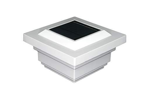 Classy Caps SL078W Regal PVC SOLAR POST CAP 4' x 4' White
