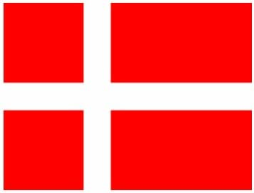 Amazon.com: (2x) Danmark Flag - Denmark - Red - Sticker - Decal - Die Cut:  Automotive