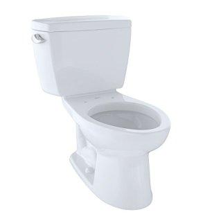 TOTO CST744SL#01 Drake 2-Piece Ada Toilet with Elongated Bowl, Cotton White