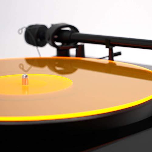 Acrylic Turntable Mat   OrangeLit   LP Slipmat
