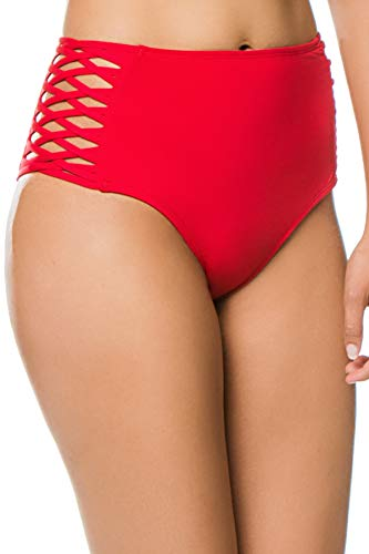 61m1 NjJGLL Designer: L*Space Collection: L*Solids Name: Tigress Strappy High Waist Bikini Bottom