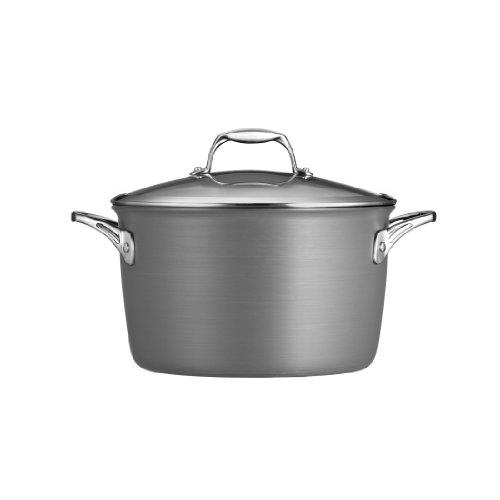 Tramontina 80123/013DS Gourmet Heavy-Gauge Aluminum Nonstick Covered Stock Pot, 8-Quart, Hard Anodized
