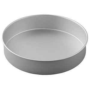 Wilton Decorator Preferred Round Cake Tin, Aluminium, Silver, 37.5 x 37.5 x 37.5 cm 31TilaFlEYL
