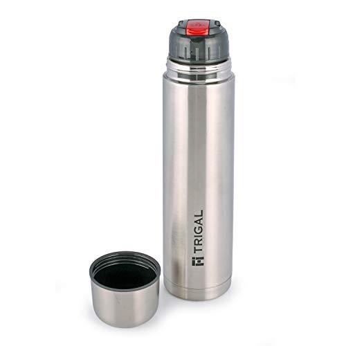 31TqVzG1oML - Trigal Thermos Steel Flip Lid Flask, 500 ml, Silver