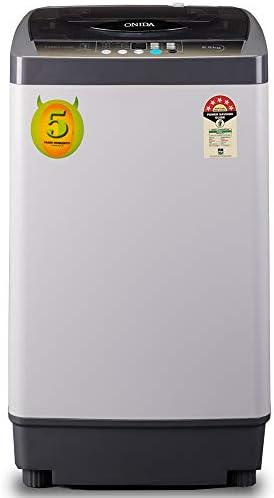 Onida 6.5 Kg 5 Star Fully-Automatic Top Loading Washing Machine (T65FCD, Grey)