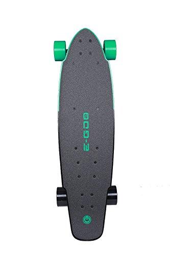 Yuneec E-Go2 Electric Longboard Skateboard, Deep Mint