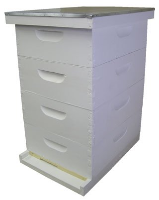 Bee Hive - Honeymaker Deluxe Add-on Starter Kit (Fully Assembled - Wood, Painted) - Perfect Hives for Beginners and Pro Beekeepers