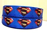 "5 yards 1"" Superman Grosgrain Ribbon"
