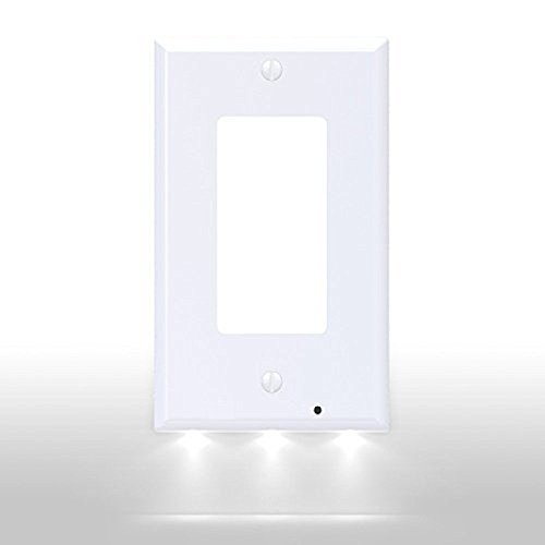 Yhxk 1 gang decora power wall outlet plate cover with lighted yhxk 1 gang decora power wall outlet mozeypictures Choice Image